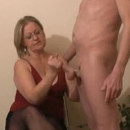 Mrs. Watson wants her neighbour to cum on her nylons