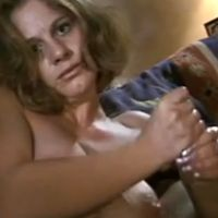 Mature Milf, sexy lingerie, gives her son a blowjob and handjob
