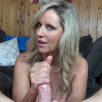 Sexy milf strokes your dick until you cum