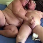 Mature BBW jerks her husband off until he cums